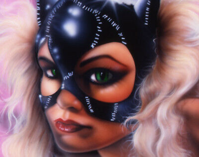 "CATWOMAN  LARGE ART Print 24"" x 40""  - Gorgeous (Please Read - NUDE)"