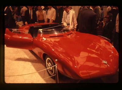1963 NY Auto Show Original Color 35MM Slide - Mustang GT Convertible