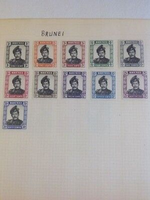 Collection Of Mint Hinged Brunei Stamps