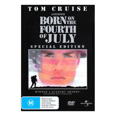 Born on the Fourth of July DVD Brand New Aus Region 4 - Tom Cruise