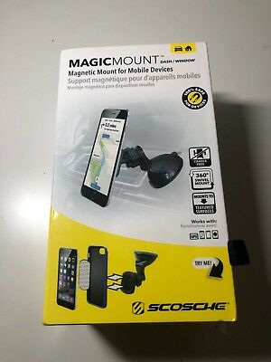 Scosche - MagicMOUNT Dash-Window Magnetic Holder for Mobile Phones - Black
