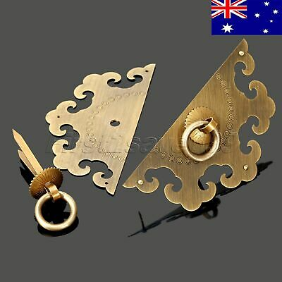 AU STOCK Chinese Brass Face Plate Cabinet Door Pull Knocker Furniture Hardware