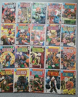 SGT. ROCK #347-366, 20 Book Lot Original Owner-Great Condition!