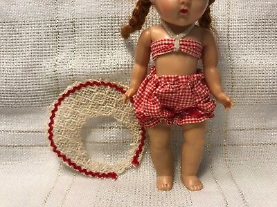 1950s Vintage Doll Clothes Swim Suit, Virga, Vogue Ginny, Ginger, Muffie, 8""