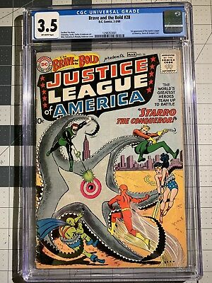 DC's Brave & The Bold #28 (1st Appearance Of The Justice League) 3.5 CGC OW-PQ