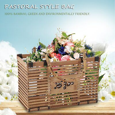 Portable Women Bag Bamboo Straw Bag Pastoral Style Rattan Tote TQ