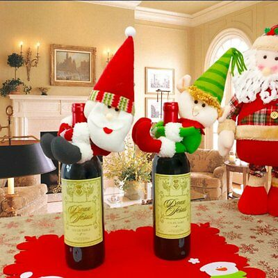 Christmas Dolls Clothing Wine Bottle Cover Lovely Decoration Dinner Decoration