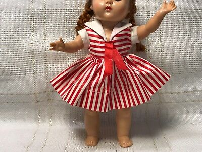 Vintage Doll Clothes DRESS, Nancy Ann Muffie(tag), Vogue Ginny, Ginger, 8""