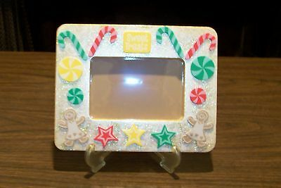 NEW Unique Handmade 6X8 Picture Photo Memory Frame with Easel  XMas GINGERBREAD