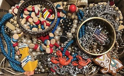 Lot- BB150 Huge Lot Of Vintage To Now Necklaces, Bracelets And Pins