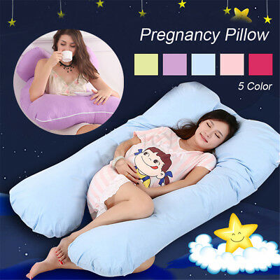 Maternity Pregnancy  U Shape Sleeping Body Support Feeding Nursing Pillow Cover