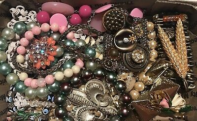 Lot- BB154  Huge Lot Of Vintage To Now Necklaces, Bracelets  And Pins