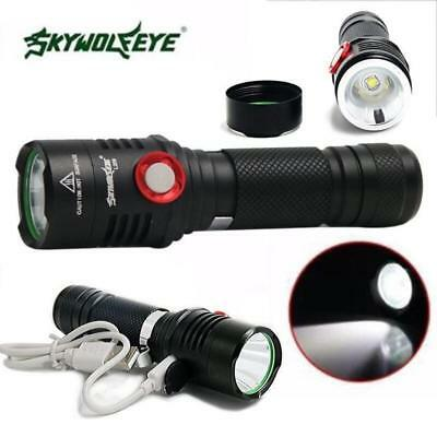 USB Rechargeable 5000LM Zoomable 5 Mode XM-L2 T6 LED Flashlight Torch Lamp Light