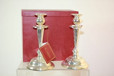 H. Samuel 2 Silver Plated Candle Stick Candle Holders