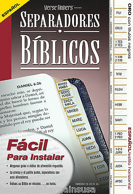 Spanish Separadores Biblicos New Bible Tabs EZ Install Full Set FASTER SHIPPING