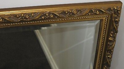 French Style  Beautifully Carved Gilt/gold Framed Wall Mirror W- 69Cm L-1M D-4Cm