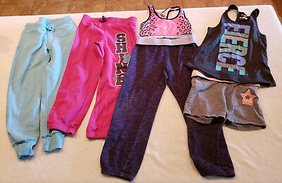 6 Piece Lot  Active girls mixed clothes size 6 Justice,  old navy, danskin....H2