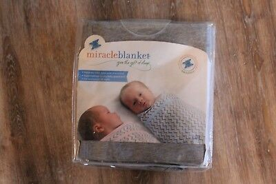 Miracle Blanket Swaddle Heathered Gray NEW