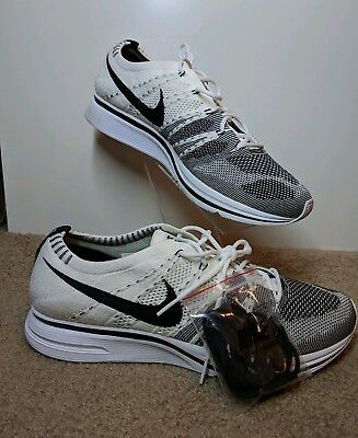 14d19fdfcb76 New Nike Flyknit Trainer AH8396-100 The Return White Black Mens Size 11.5  Yeknit