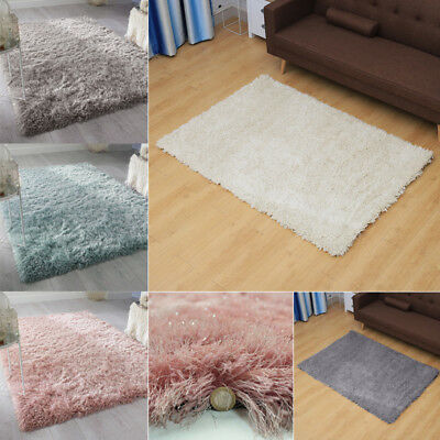 Dazzle Rug Shaggy Glamour Glitter Sparkle Polyster 6cm Pile Silky Household Mats