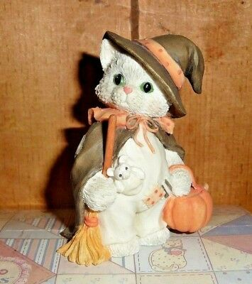 1995 NESCO Calico Kittens, I'm Bewitched With Friendship #144258, Halloween