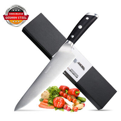 8'' Pro Kitchen Chef's Knife German High Carbon Stainless Steel Sharp Blade US