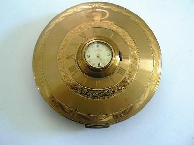 Vintage Illinois Watch Case  Goldtoned  Compact