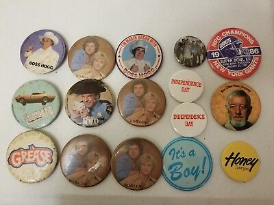 Mixed Lot of Vintage Promotional Movie Pinback Buttons Pins