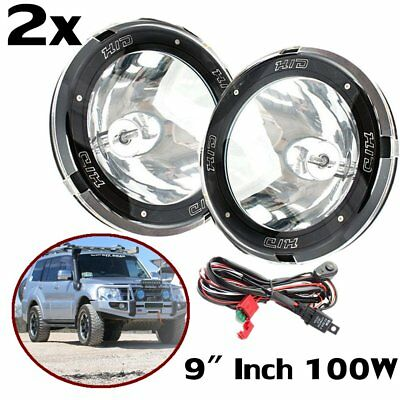 "2x 9"" Inch 12V 100W Hid Driving Lights Xenon Spotlight Offroad 4Wd Truck SUV GE"