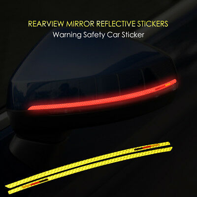 2X Reflective Safety Tape Mark Side Mirror Rearview Sticker Decal For Audi a3 8v