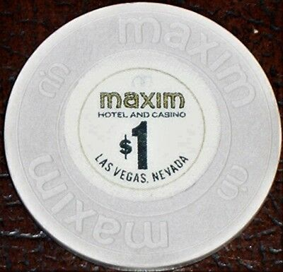 Old $1 MAXIM Hotel Casino Poker Chip Vintage Antique House Mold Las Vegas NV