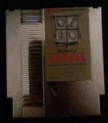 The Legend of Zelda Gold Cartridge Nintendo Entertainment System