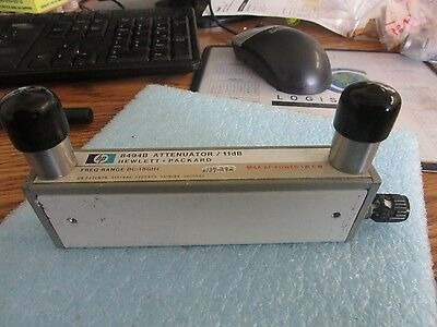 Hewlett Packard Model: 8494B Step Attenuator. Missing Knob <