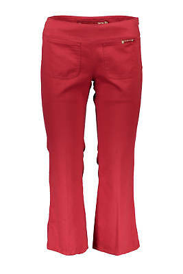 Guess Jeans Pantalone Donna Woman W1435-Ub303 Rosso  100% Cotone Trousers Pinoc