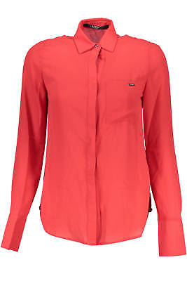 Guess Jeans Camicia Donna Woman W73H63W8Rr0 Rosso  100% Poliestere Shirt Camici