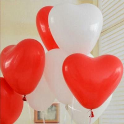 Pack of 10-100 latex Heart Shaped Latex Party Balloons-Choice of Sizes & Colours