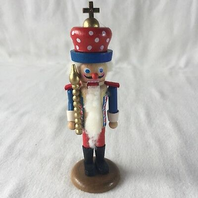 "VTG Steinbach Volkskunst Nutcracker 5"" Tall Original Box Signed West Germany"