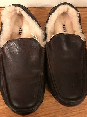 0f536cb1887 UGG NEUMAN CHINA Tea Leather/ Sheepskin Slippers Shoes, Men Us 8 ...