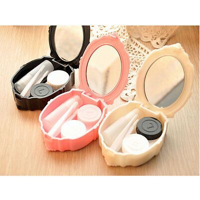 Cute Contact Lens Travel Kit Case Pocket Size Storage Holder Container DR