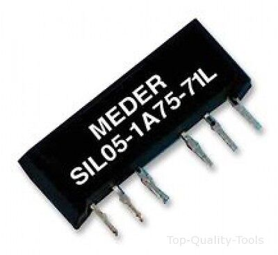 RELAY, REED, SPST, 5VDC, 1.25A, SIL, THT Part # STANDEXMEDER SIL05-1A72-71D