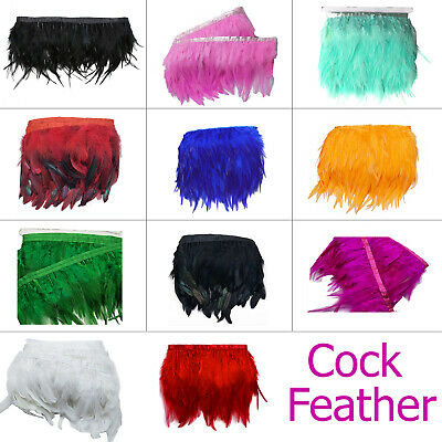Cock Feathers for Jewelry Costume Hat Arts and Crafts Wedding Decoration 2 meter