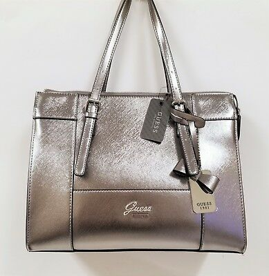GUESS JUDSON OR Rose Faux Dur Saffiano Cuir, Noeud Sacoche