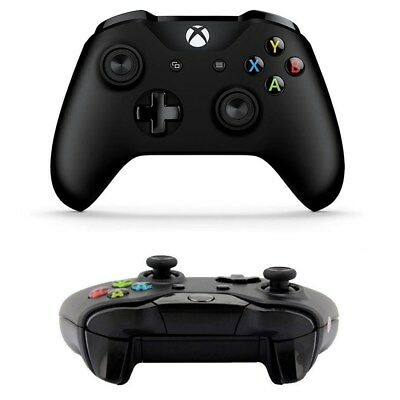 Xbox One S Black Bluetooth Wireless Microsoft Controller with 3.5mm Headset Jack