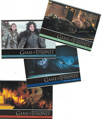 Game of Thrones Season 2+3+4+5+6+7 Trading Card Sets Lot (6 Basissets)