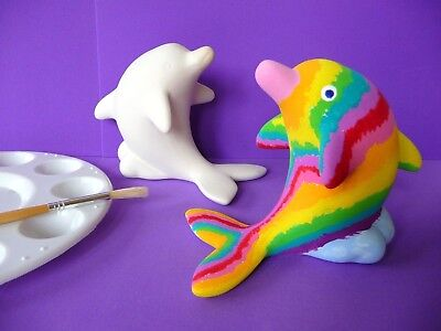 PAINT YOUR OWN DOLPHIN Pottery - Kids Craft Activity - 13cm X 10cm