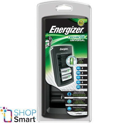 Energizer Accu Recharge Universal Charger For Aaa Aa C D 9V 6F22 Batteries New