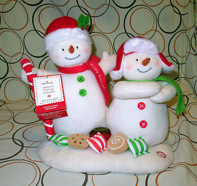 Hallmark Jingle Pals 2008 Seasons Treatings Animated Musical Snowmen with Tags