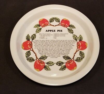 Shafford Co. Apple Holiday Pie Recipe Baking Porcelain Plate Pan Dish 10-11 Inch