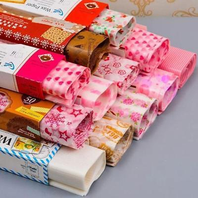 50* Waxed Paper Waterof Greaseof Pastry Food Sandwich Wrap Wrapping·Sheets