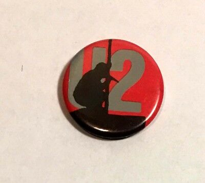 Original 1980's U2 band tin button badge excellent condition for age 24mm dia